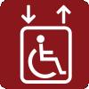 Ascensor con dimensiones adecuadas para usuarios de silla de ruedas