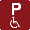 2 plazas de aparcamiento reservadas para personas con discapacidad
