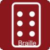 Información del establecimiento en braille